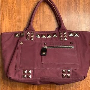 NWOT Marc Jacobs Chipped Stud Canvas Tote, Rubino